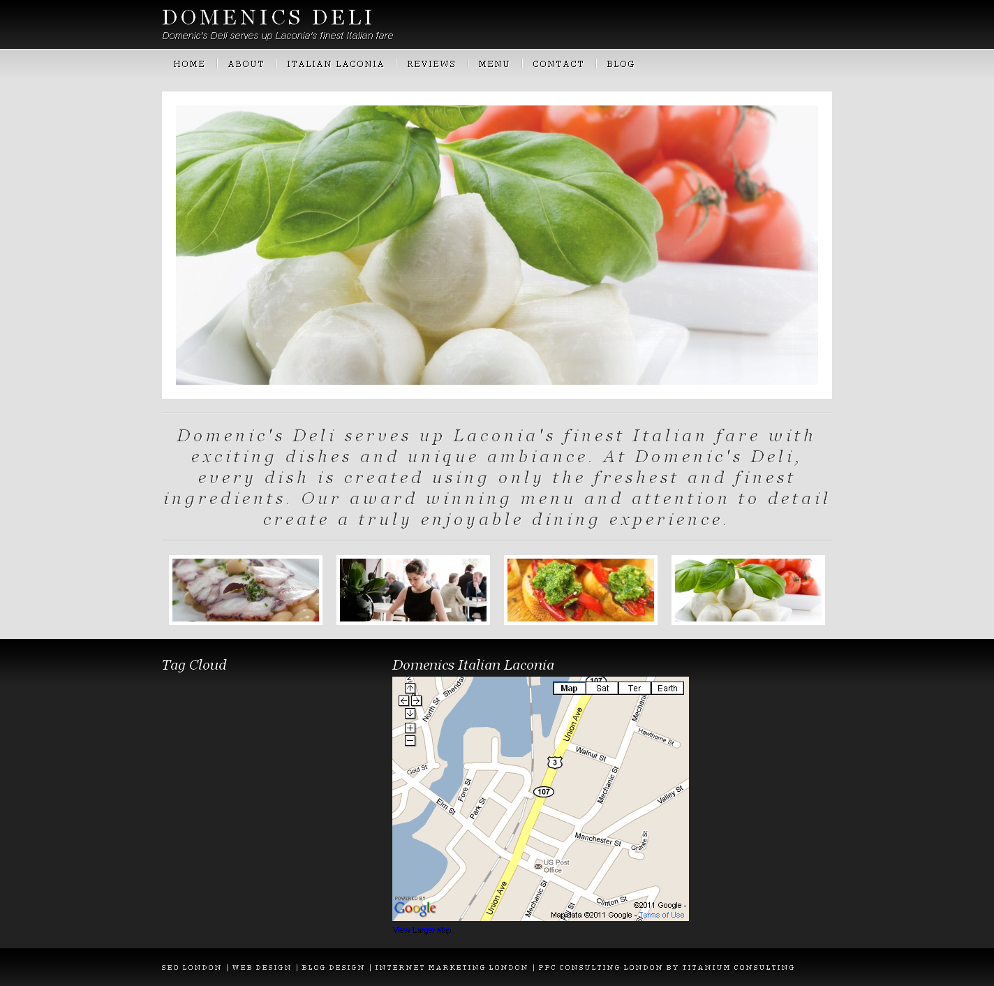 Restaurant web site wordpress design in london